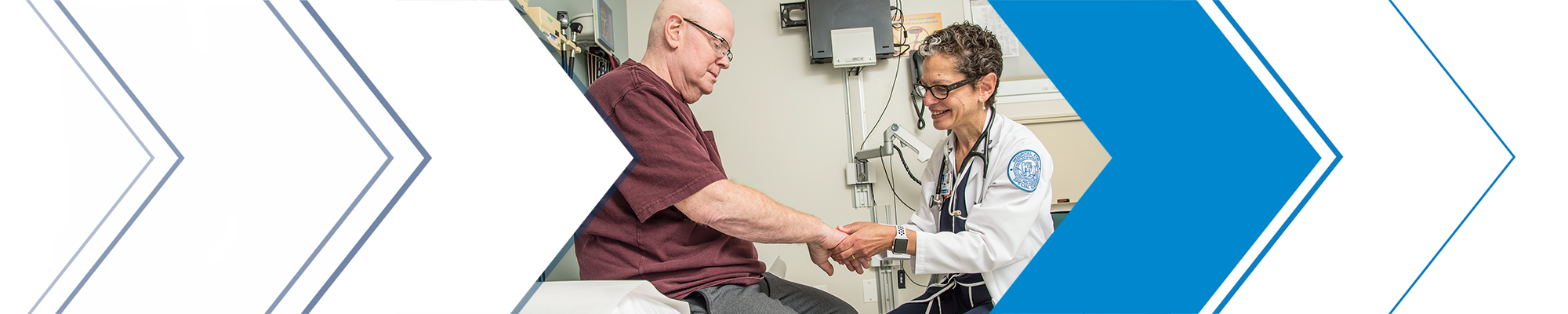 Dr. Anne Bass with patient